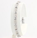 Eternity Bracelets 1.15 Ct Natural Untreated Diamond Solid Gold Natural Certified
