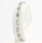 Eternity Bracelets 1.7 Ct Natural Untreated Diamond Solid Gold Natural Certified