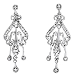 Drop Dangle Earrings 1.15 Ct Diamond  Natural Certified Solid Gold