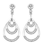Diamond Dangle Earrings 1.2 Ct Natural Certified Solid Gold For Wedding