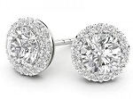 Dangle Earrings 1.52 Ct Diamond  Natural Certified Solid Gold