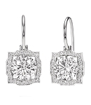 Diamond Hanging Earrings 1.7 Ct Solitaire Studs Natural Certified Solid Gold