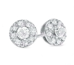 Dangle Earrings 0.72 Ct Diamond  Natural Certified Solid Gold
