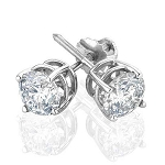 Diamond  Earrings 0.6 Ct Solitaire Earrings Natural Certified Solid Gold