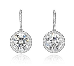Diamond Dangle Earrings 2.00 Ct Solitaire Studs Natural Certified Solid Gold