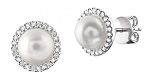 Gemstone Earrings 5.2 Ct Diamond Pearl Natural Certified Solid Gold