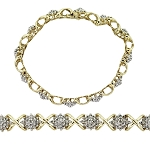 Beautiful Diamond Bracelets 3.6 Ct Natural Untreated Solid Gold Natural Certified