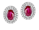 Ruby Earrings 3.65 Ct Diamond Gemstone Natural Certified Solid Gold