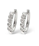 Small Hoop Earrings 0.25 Ct Diamond Wedding Natural Certified Solid Gold
