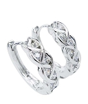 Diamond hoops Earrings 0.3 Ct Wedding Natural Certified Solid Gold