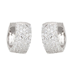 Small Hoop Earrings 1.35 Ct Diamond  Natural Certified Solid Gold