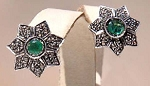 Antique Drop Earrings 1 Ct Uncut Natural Certified Diamond 925 Sterling Silver Anniversary