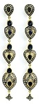 Antique Earrings 2.6 Ct Uncut Natural Certified Diamond 925 Sterling Silver Everyday