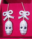 Victorian Diamond Earrings 1.4 Ct Uncut Natural Certified Diamond 925 Sterling Silver Festive