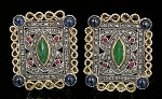 Antique Drop Earrings 1.5 Ct Uncut Natural Certified Diamond 925 Sterling Silver Party