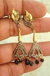 Antique Earrings 2.5 Ct Uncut Natural Certified Diamond 925 Sterling Silver Engagement