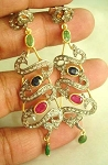 Antique Diamond Earrings 3 Ct Uncut Natural Certified Diamond 925 Sterling Silver Festive