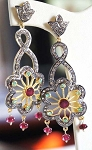 Victorian Drop Earrings 3 Ct Uncut Natural Certified Diamond 925 Sterling Silver Special Occasion