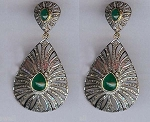 Antique Earrings 3.7 Ct Uncut Natural Certified Diamond 925 Sterling Silver Vacation