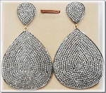 Polki Earrings 5.6 Ct Uncut Natural Certified Diamond 925 Sterling Silver Weekend