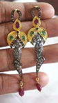 Victorian Earrings 1.6 Ct Uncut Natural Certified Diamond 925 Sterling Silver Office Wear