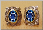 Victorian Diamond Earrings 0.8 Ct Uncut Natural Certified Diamond 925 Sterling Silver Workwear