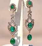 Antique Diamond Earrings 1.6 Ct Uncut Natural Certified Diamond 925 Sterling Silver Festive