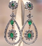 Vintage Diamond Earrings 2.2 Ct Uncut Natural Certified Diamond 925 Sterling Silver Weekend