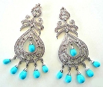 Antique Earrings 3 Ct Uncut Natural Certified Diamond 925 Sterling Silver Festive