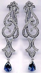 Art Deco Earrings 3 Ct Uncut Natural Certified Diamond 925 Sterling Silver Vacation