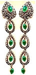 Victorian Drop Earrings 3.5 Ct Uncut Natural Certified Diamond 925 Sterling Silver Everyday