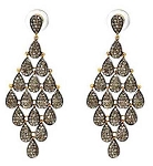 Antique Drop Earrings 5.4 Ct Uncut Natural Certified Diamond 925 Sterling Silver Anniversary
