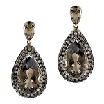 Antique Diamond Earrings 2 Ct Uncut Natural Certified Diamond 925 Sterling Silver Workwear
