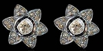 Antique Drop Earrings 1.02 Ct Uncut Natural Certified Diamond 925 Sterling Silver Engagement