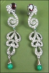 2.15 Ct Natural Uncut Diamond Silver Antique Earrings