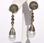 Victorian Earrings 1.6 Ct Uncut Natural Certified Diamond 925 Sterling Silver Everyday