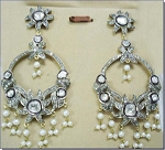 Victorian Diamond Earrings 3.5 Ct Uncut Natural Certified Diamond 925 Sterling Silver Weekend