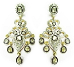 Victorian Earrings 3.6 Ct Uncut Natural Certified Diamond 925 Sterling Silver Office Wear