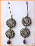 Vintage Drop Earrings 2 Ct Uncut Natural Certified Diamond 925 Sterling Silver Wedding