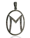 Vintage Pendants 1.75 Ct Uncut Natural Certified Diamond 925 Sterling Silver Workwear
