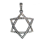 Victorian Diamond Pendant 1.6 Ct Uncut Natural Certified Diamond 925 Sterling Silver Everyday