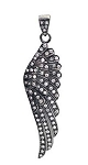 Art Deco Pendant 1.42 Ct Uncut Natural Certified Diamond 925 Sterling Silver Weekend