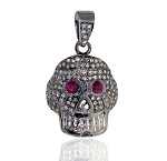 Antique Diamond Pendant 0.7 Ct Uncut Natural Certified Diamond 925 Sterling Silver Vacation