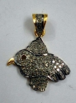 Antique Pendants 0.86 Ct Uncut Natural Certified Diamond 925 Sterling Silver Party