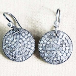 Antique Diamond Earrings 2.22 Ct Uncut Natural Certified Diamond 925 Sterling Silver Workwear
