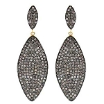 Victorian Diamond Earrings 6.21 Ct Uncut Natural Certified Diamond 925 Sterling Silver Anniversary