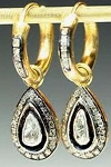Antique Diamond Earrings 1.65 Ct Uncut Natural Certified Diamond 925 Sterling Silver Vacation