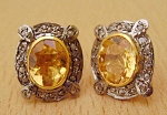 Antique Diamond Earrings 0.72 Ct Uncut Natural Certified Diamond 925 Sterling Silver Office Wear