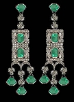 Uncut Earrings 4.05 Ct Uncut Natural Certified Diamond 925 Sterling Silver Vacation