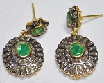 Victorian Drop Earrings 3.5 Ct Uncut Natural Certified Diamond 925 Sterling Silver Weekend